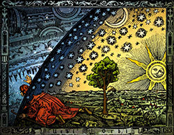Camille Flammarion: L'atmosphère, Paris 1888, Kolorierung: Hugo Heikenwaelder, Wien 1998.